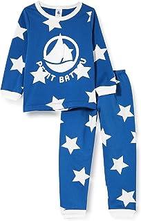 Pijama con Estrellas para niño de muletón.