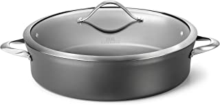 Calphalon Contemporary Hard-Anodized Aluminum Nonstick Cookware, Sauteuse Pan, 7-quart, Black - 1876962 (Renewed)
