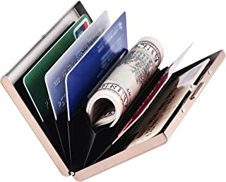 RFID Slim Metal Credit Card Holder Wallet for Ladies and Men,Credit Card Caes for Against Electronic Pickpockets & Identit...