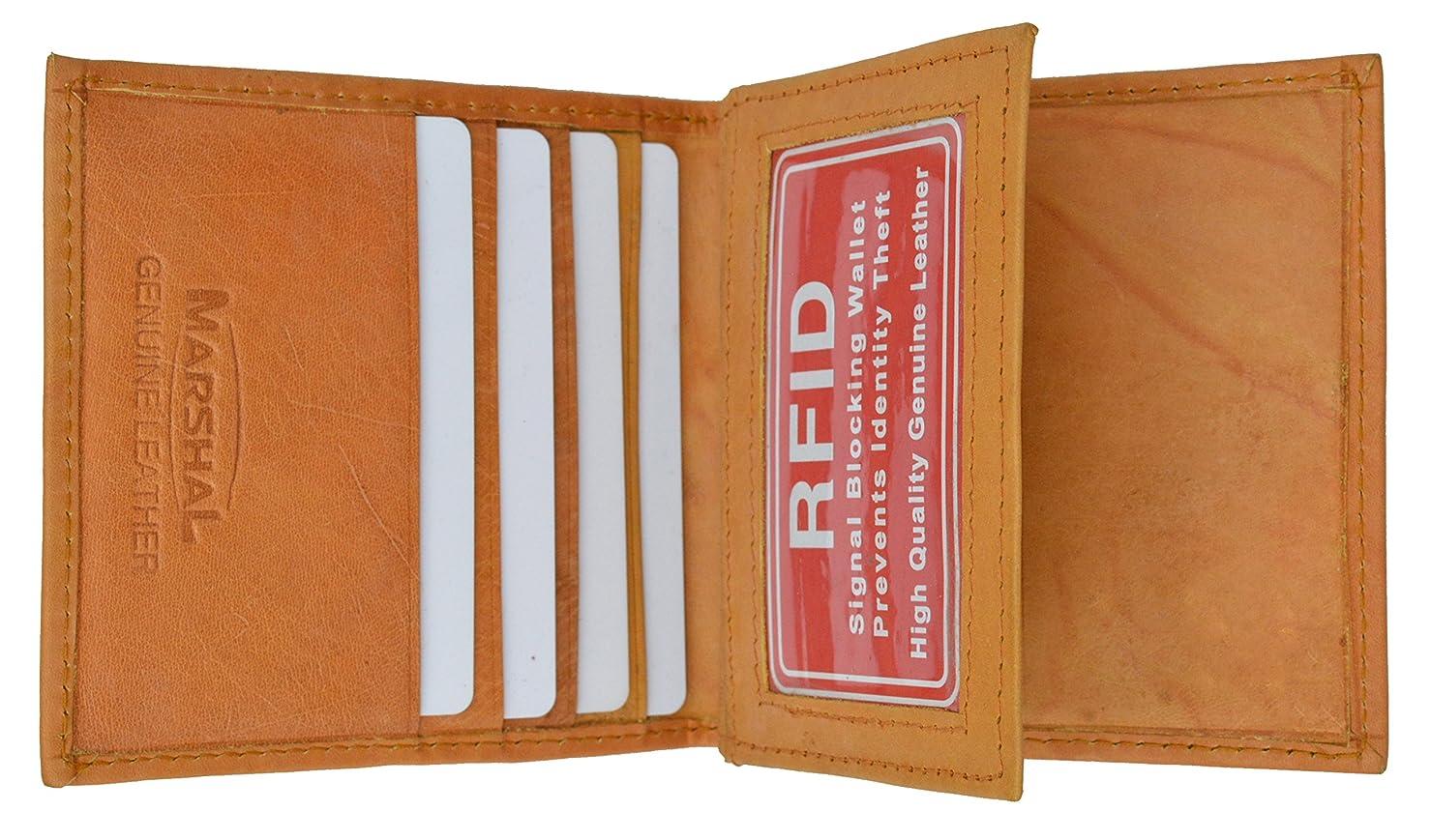 司法控える複雑なRFIDブロック安全セキュリティレザークレジットカードIDビジネスカードセンターフラップウォレット