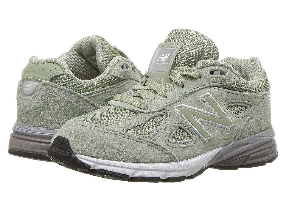 New Balance Kids KJ990v4I (Infant/Toddler) (Silver Mint/White) Girls Shoes