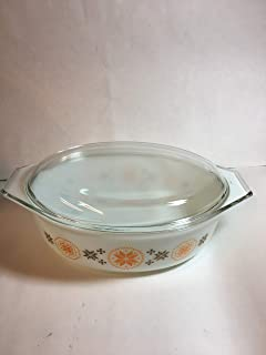 Vintage 1963 Pyrex TOWN & COUNTRY Glass Cinderella 2 1/2 Quart Casserole w/ Clear Glass Lid