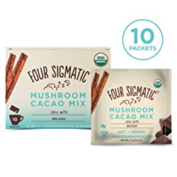 Four Sigmatic Mushroom Hot Cacao with Reishi - USDA Organic Reishi Mushroom Powder - Natural Calm, R