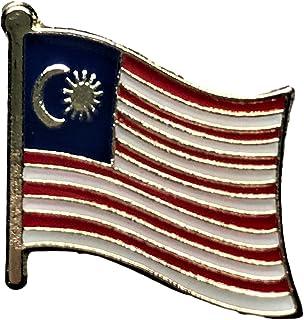 Backwoods Barnaby 国旗翻领别针/国际旅行别针系列产品(0.75 x 0.75 英寸)