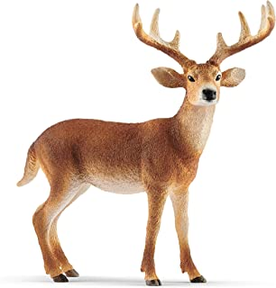 Best SCHLEICH Wild Life, Animal Figurine, Animal Toys for Boys and Girls 3-8 Years Old, White-Tailed Buck Review
