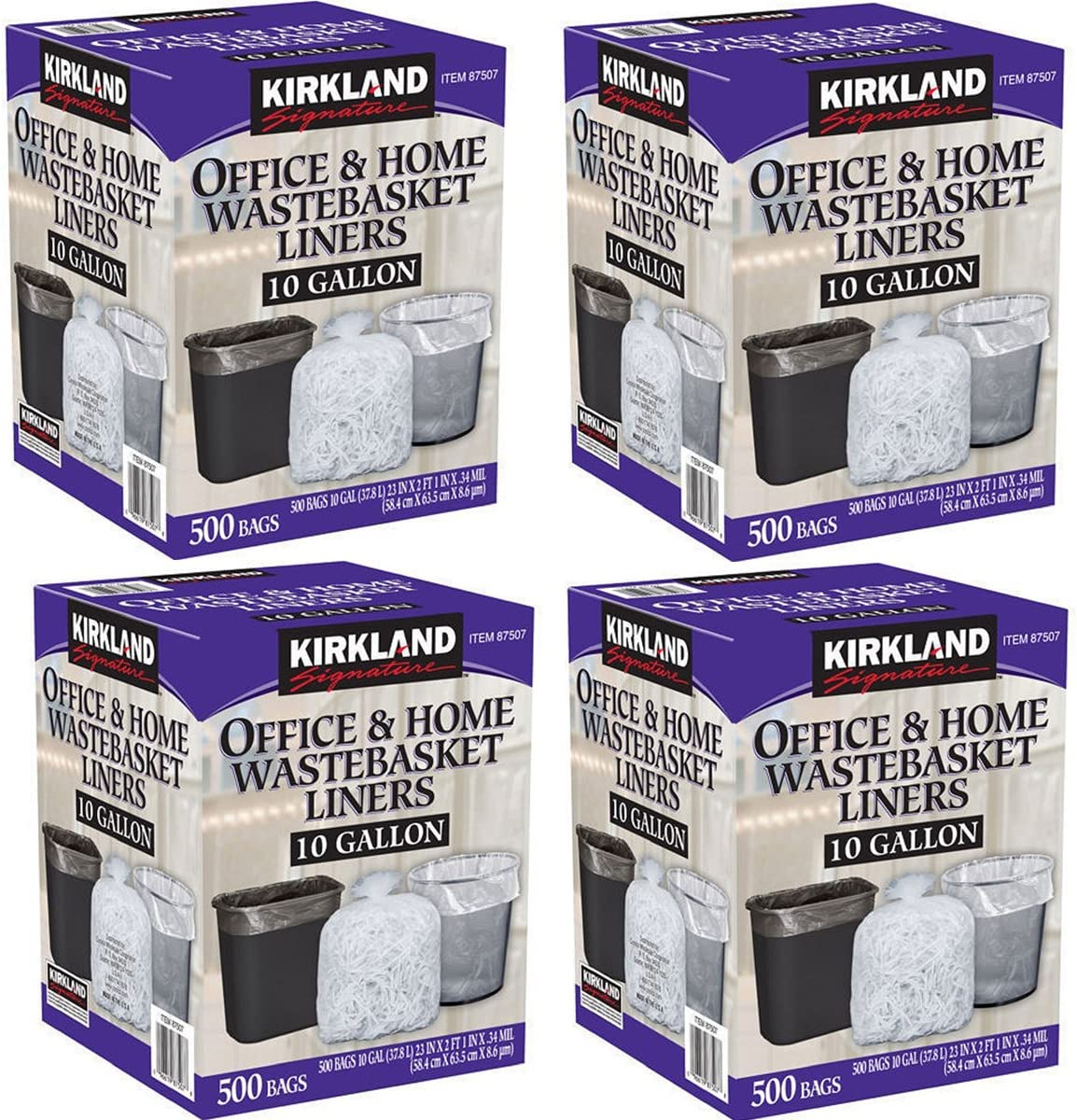 Kirkland Limited price Signature El Paso Mall Made in USA Wastebasket Liner Gallon Clear 10