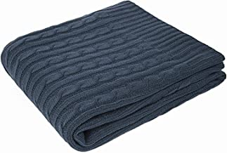 softan Cable Knit Throw Blanket | Acrylic Soft Cozy Snuggle TV Fleece Sweater Blanket | All Seasons Suitable for Adults and Kids | 50