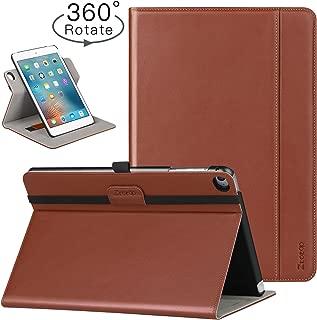 Ztotop iPad Mini 4 Swivel Case, [360 Rotating] Genuine Leather Folio Stand Case Cover with Multi-Angle Viewing, Pocket, Auto Wake/Sleep for iPad Mini 4 - Brown