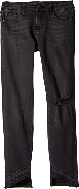 Hudson Kids - Angled Skinny Jeans in Black Vintage (Big Kids)