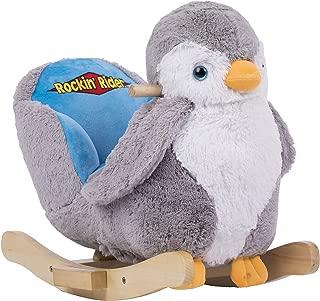 Rockin' Rider Percy the Penguin Baby Rocker, Gray