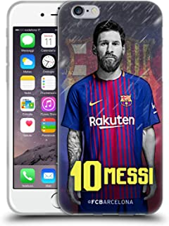 Official FC Barcelona Lionel Messi 2017/18 First Team Group 1 Soft Gel Case Compatible for iPhone 6 / iPhone 6s