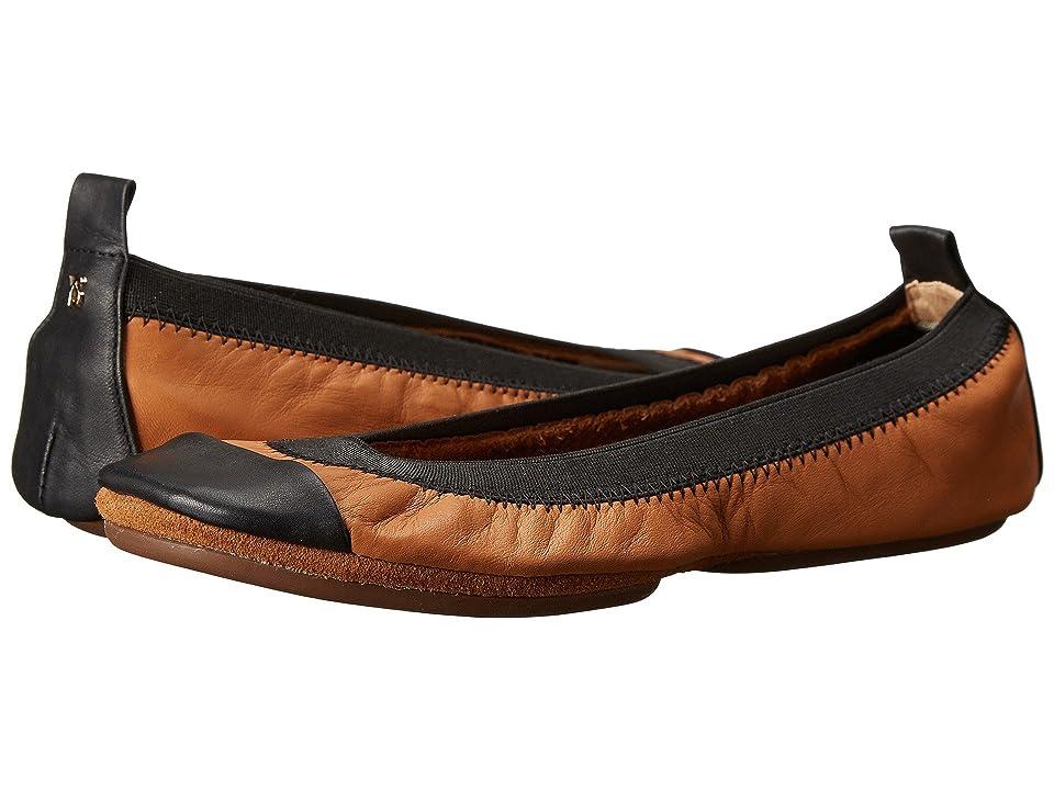 Yosi Samra Alsina Leather Ballet Flat (Whiskey) Women