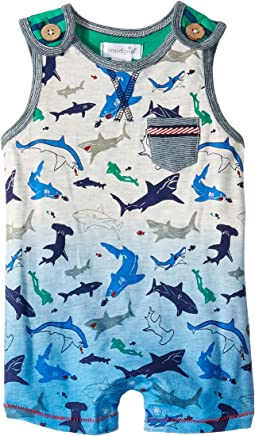 Shark Sleeveless Shortall (Infant)