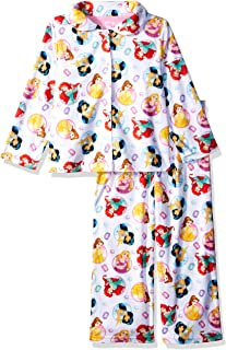 91b3d75bb Disney Girls' Multi-Princess 2-Piece Pajama Coat Set