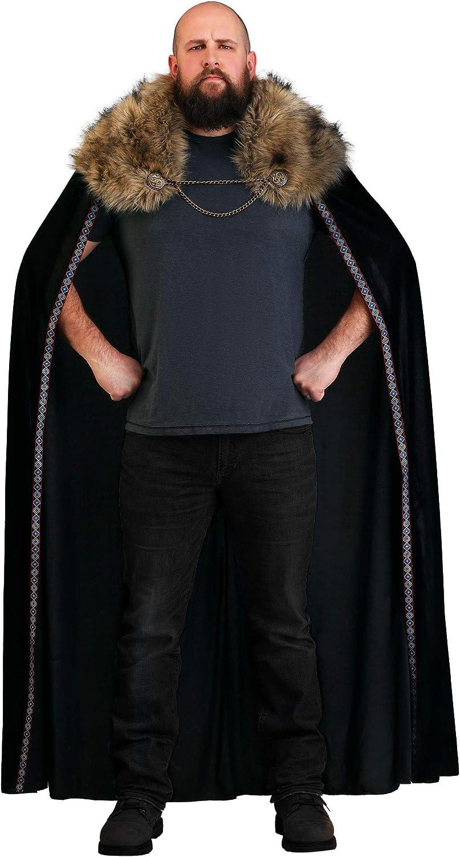 Black Faux Fur Cape 買物 Viking Collar 超人気 専門店