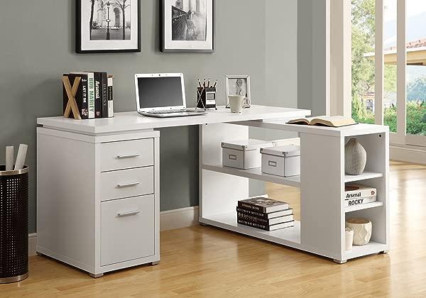 Monarch Specialties Hollow Core Left Or Right Facing Corner Desk White