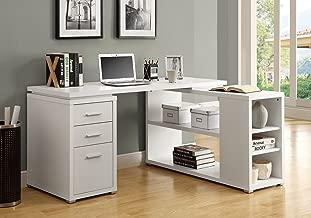 Monarch Specialties Hollow-Core Left or Right Facing Corner Desk, White