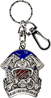 BadBananas - Gifts for Firefighters - Be Safe I Need You Here With Me - Firemen Gifts - Keychain - Unique Fireman