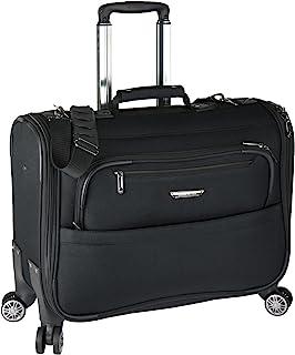 Traveler's Choice 21-inch Carry-on Softside Durable EVA Molded Ballistic Fabric 8-Wheel Spinner Garment Bag Luggage Suitca...