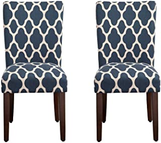 HomePop Parsons Classic Upholstered Accent Dining Chair,...