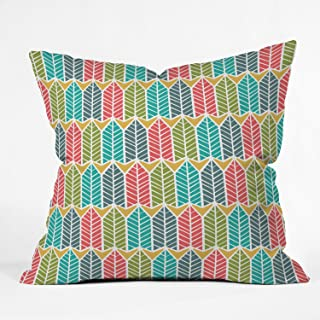 Deny Designs Heather Dutton Arboretum Leafy Multi Throw Pillow, 16 x 16