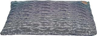 MOG & BONE Futon Dog Bed Blue Stripe Print Small