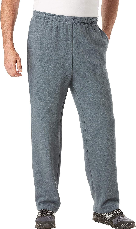 KingSize KS Sport Men's Big & Tall Wicking Fleece Open Bottom Pants by KS Sport