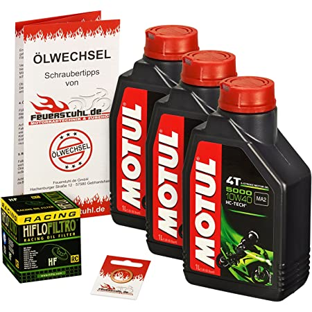 Motul 10w 40 Öl Hiflo Ölfilter Für Honda Cbf 600 S 08 10 Pc43 Ölwechselset Inkl Motoröl Racing Filter Dichtring Auto