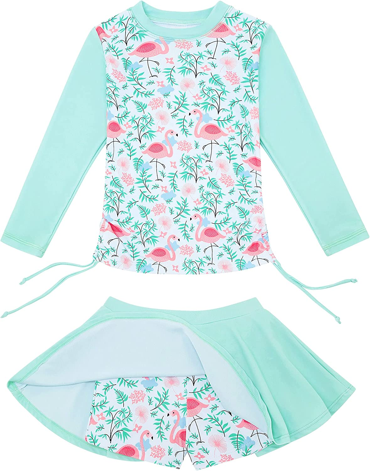 swimsobo Girls Rash Guard Swimsuits Special price for a limited time Suit Bathing Two Skir 1 year warranty Pieces