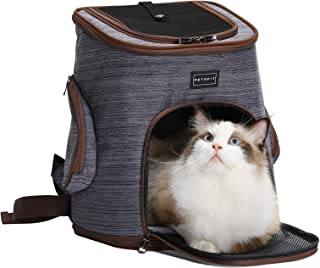 Petsfit Soft Pet Backpack Carrier with Safety Tether for Small Dog and Cat Under 13 Pounds