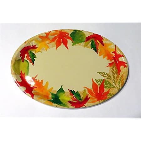 Thanksgiving Platter Turkey Platter Disposable Paper Serving Platter Happy Thanksgiving Oval 12 X 10 Pk 16 Platters Kolenik Dining Entertaining