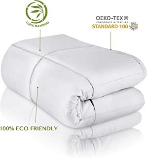 "CARMA Warm Weighted Blanket 15 lbs | Ultra Soft & Smooth 100% Bamboo Viscose Glass Beads, Heavy Blanket for Teens and Adults, 60""x80"" 