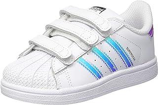 adidas Baby Girls' Superstar CF Shoes, Footwear White/Footwear White/Metallic Silver, 24-36 Months (24-36 Months)