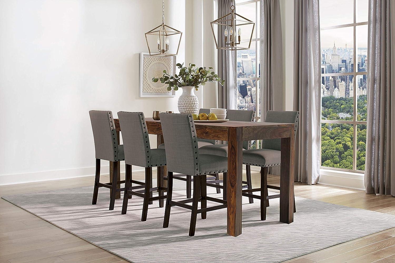 Coaster Home Furnishings Keats Rectangular Warm Chestnut Counter Height Table