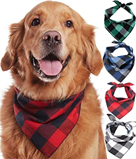 Dog Collar Bandana Classic Pet Dog Bandana Cotton Bandana for Small Large Dog Bibs Scarf Washable Bow Tie Pet Grooming Accessories 1