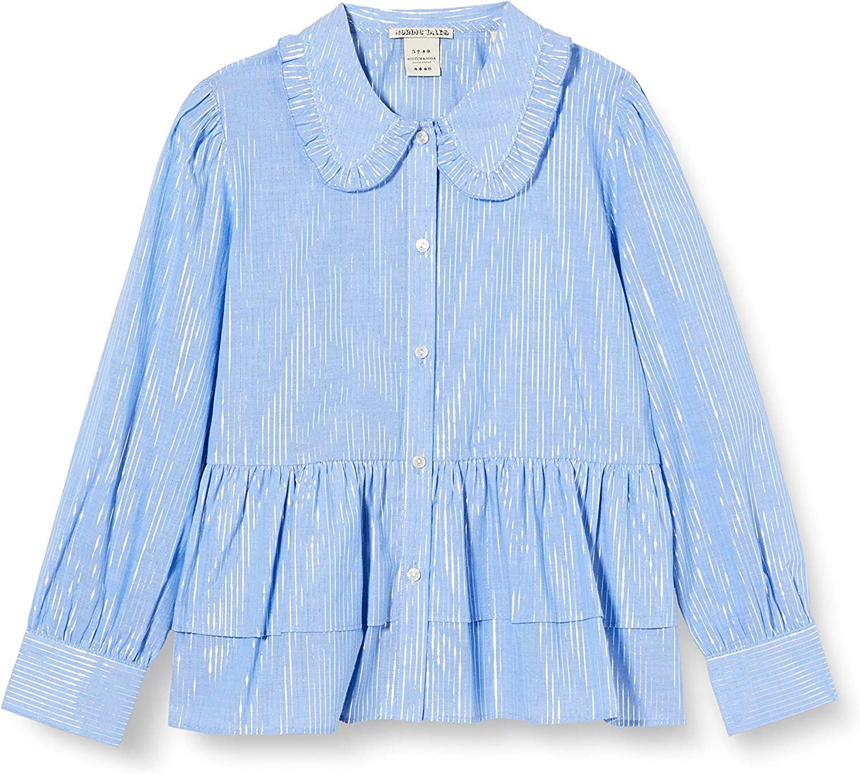 Scotch /& Soda Boxy Fit Shirt with Big Ruffle Edge Collar Blouse Fille