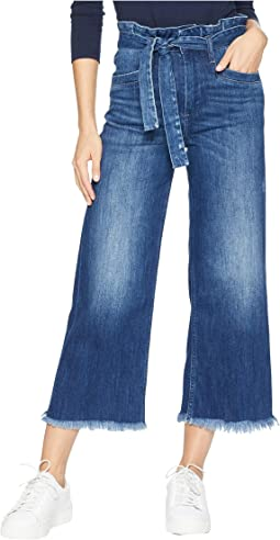 Sutton Crop Jeans with Paperbag Waistband in Marcielle