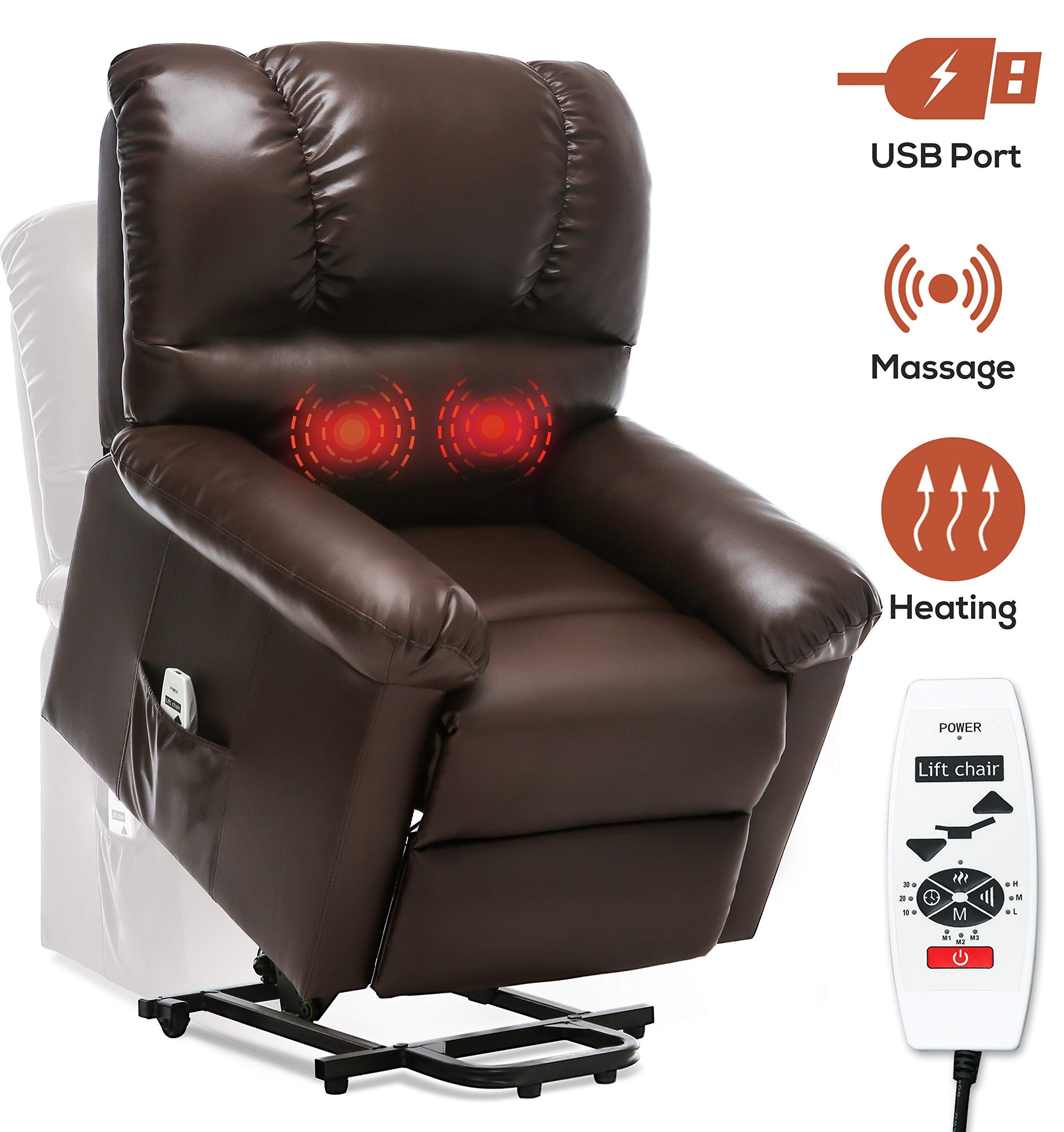 IKOCO 2 Button Side Hand Control Arm Electric Recliner Lift Chair Replacement Hand Control Handset 5 Pins