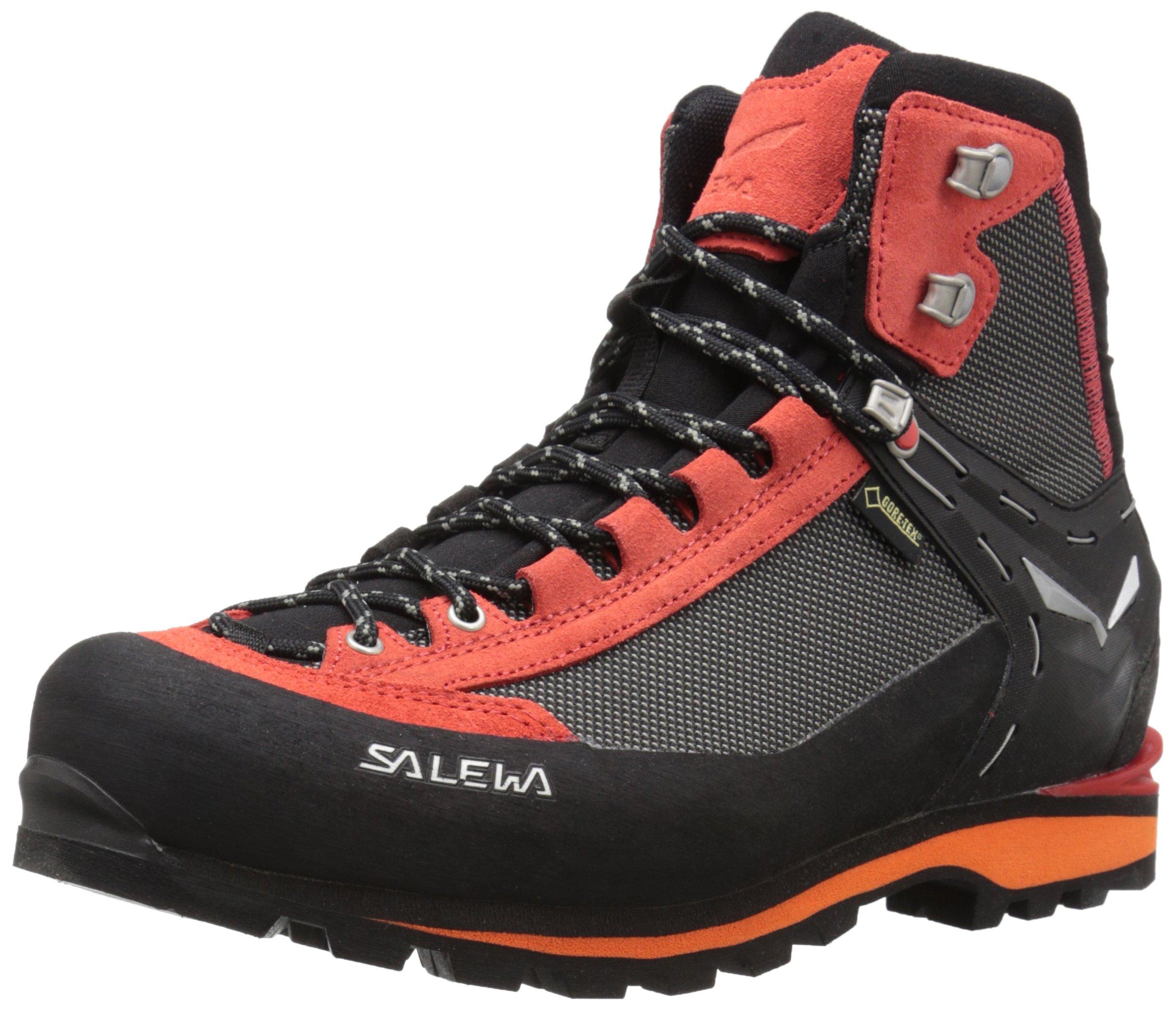 Salewa Herren MS Crow Gore-TEX Trekking-& Wanderstiefel, Black/Papavero, 44 EU