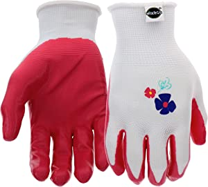 West Chester Miracle-Gro MG37121 Stretch Knit Gardening Gloves with Nitrile Coated Palm: Women's Medium/Large, 3 Pairs