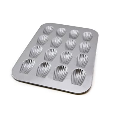 USA Pan Bakeware Madeleine, Warp Resistant Nonstick Baking Pan, Made in The USA from Aluminized Steel, 16-Well, Silver