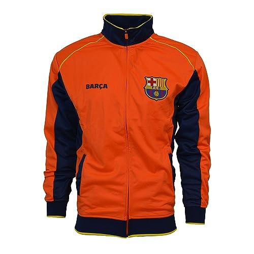Fc Barcelona Jacket Track Soccer Adult Sizes Soccer Football Official  Merchandise (NAVY - ORANGE 3932a9b9d25