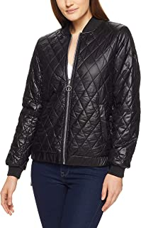 Calvin Klein Lace-Up Sides Rversible Water Repellant Women's Bomber Jacket