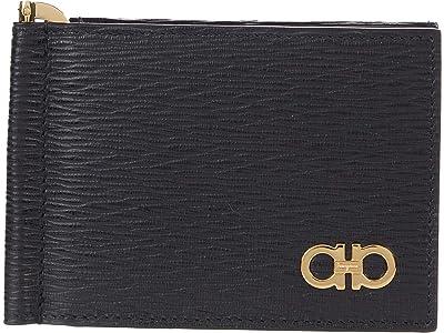 Salvatore Ferragamo Revival Gancio Wallet (Nero/Nero) Wallet Handbags