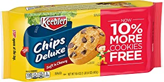 Keebler Chips Deluxe, Cookies, Soft 'n Chewy, 16.4oz Tray