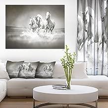 Horses Running Through Water Oversized Animal Wall Art