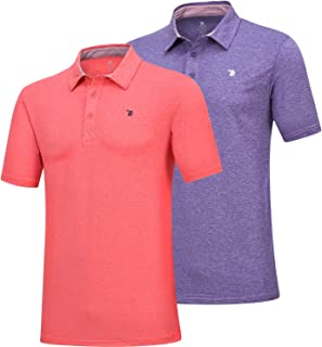 قميص بولو كلاسيكي رجالي من JINSHI رياضي فضفاض بأكمام قصيرة مناسب لممارسة رياضة الجولف