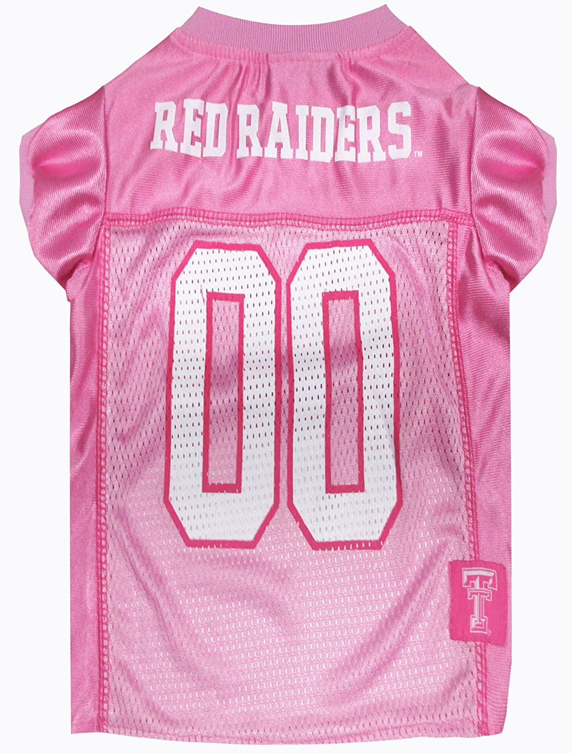 NCAA Texas TECH RED Raiders Dog Pink Jersey, Small. - Pet Pink Outfit.