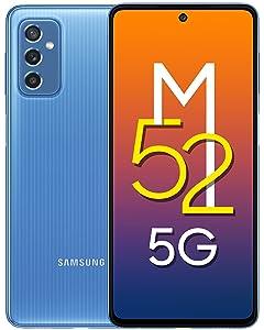 Samsung Galaxy M52 5G (ICY Blue, 6GB RAM, 128GB Storage) Latest Snapdragon 778G 5G   sAMOLED 120Hz Display