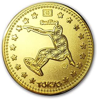 Tokyo Sports Gold Medals Surfing 東京 スポーツ ゴールド オリジナルコイン サーフィン 記念メダル